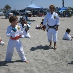 SPARRING ON THE BEACH