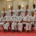 Generations of Martial Arts leadership capture in one shot.  Kyoshi Brian Hobson, Hanshi Frank Hargrove, Hanshi Jiro Shiroma, Hanshi Masanobu Kikukawa, Sensei Mike Ong