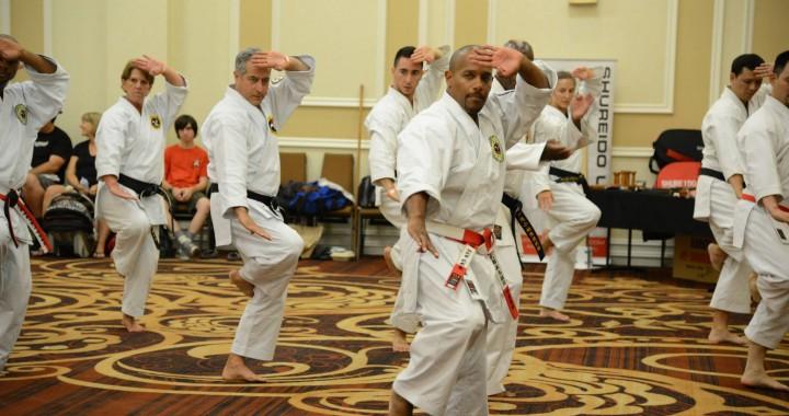 Kyoshi Brian Hobson of the Shorin Ryu Kiyobukan Teaches Rohai at San Diego Summer Camp